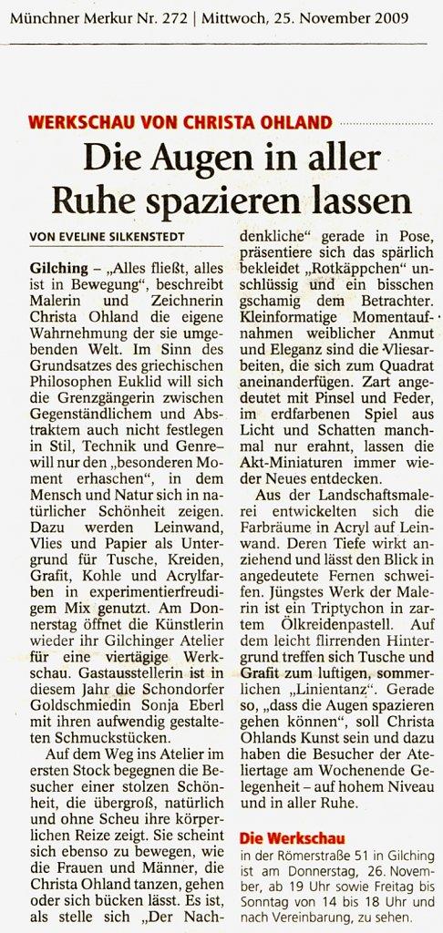 Münchner Merkur 25. November 2009