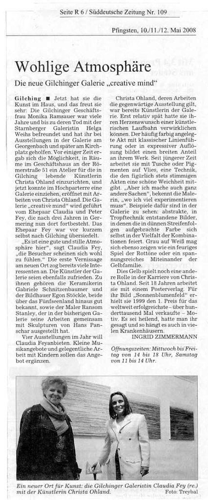 Süddeutsche Zeitung 10.-12. Mai 2008
