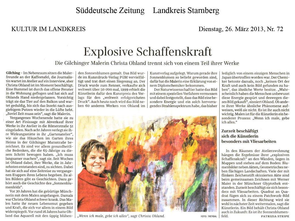 Süddeutsche Zeitung 26. März 2013